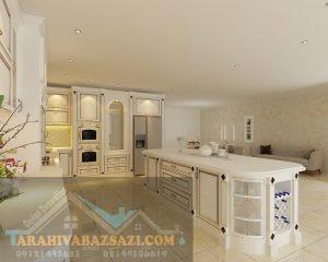 کابینت آشپزخانه مدل جزیره ای