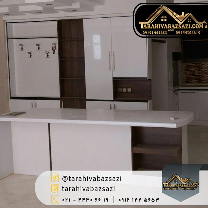 خرید کابینت آشپزخانه هایگلاس ارزان :