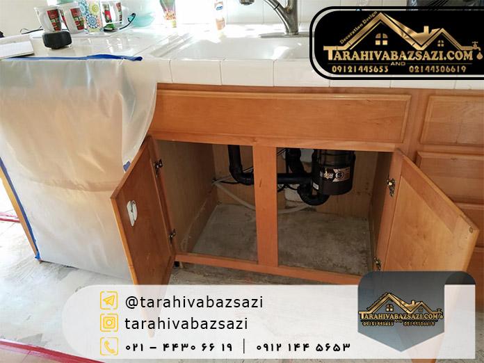 هزینه بازسازی آشپزخانه | بازسازی ساختمان | بازسازی ساختمان در تهران