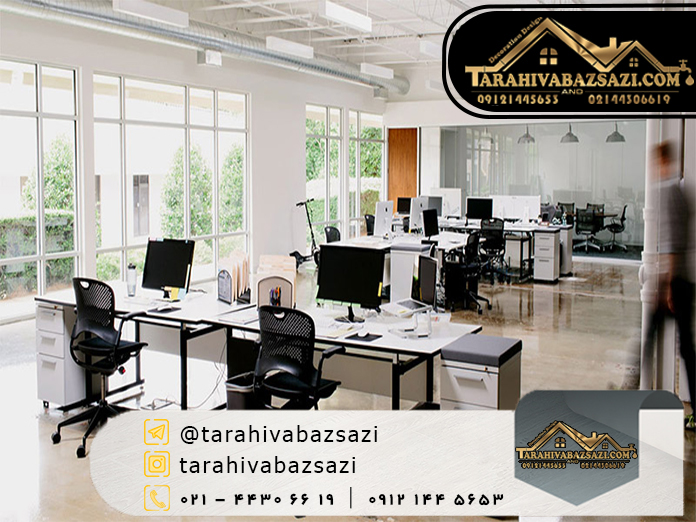 بازسازی داخلی ساختمان اداری | بازسازی ساختمان | دکوراسیون دیزاین