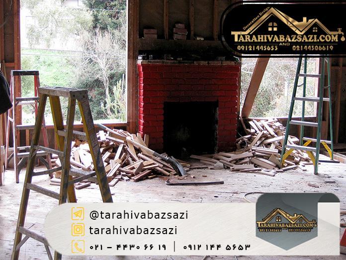 بازسازی ساختمان در فرمانیه | بازسازی ساختمان در شمال تهران | طراحی و بازسازی